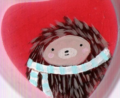 Red_hedgie_wooden_valentine